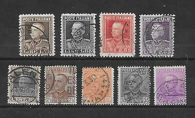 ITALY - 1927/1929  Definitives - Complete Sets - VFU