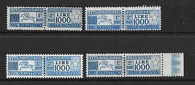 ITALY - Super PARCEL POST - 1000L Top Values ~ Joined Pairs - Nice Shades  - M/M