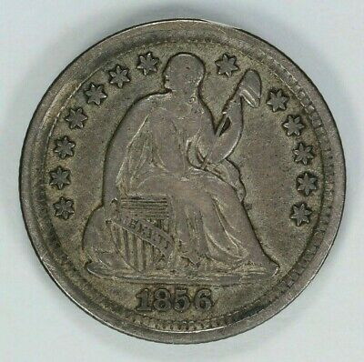 1856 Seated Liberty Half Dime H10C Silver Choice Xf++ Extra Fine Plus + (7817)