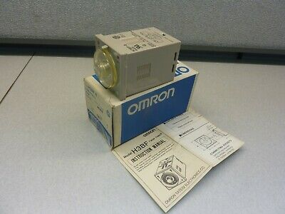 OMRON H3BF-8 TWIN TIMER 0.5S to 100H  24VAC 50/60Hz      (20997)