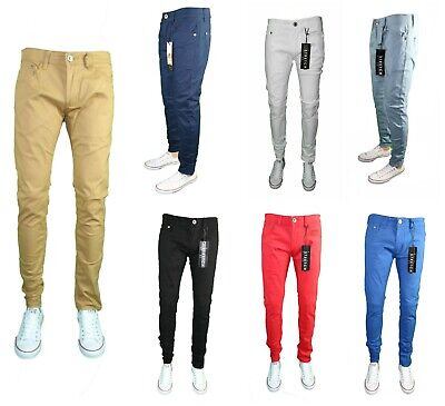 Mens Skinny Jeans Slim STRETCH FIT SLIM FIT Trouser Pants Fashion Casual NEW