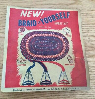 Vintage Henry Seligman Co Rug Braid It Yourself Hobby Kit Complete