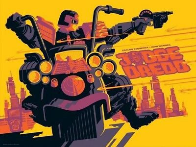 JUDGE DREDD (2000AD) VARIANT By Tom Whalen - Limited Edition Print Of 40