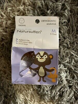 Natursutten BPA-Free Natural Rubber Pacifier Rounded Nip... LARGE 12 months Up