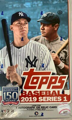 2019 Topps Series 1 Baseball MLB Sealed Hobby Box