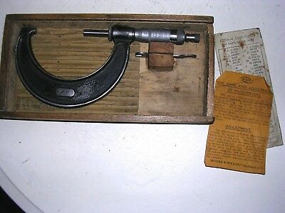 "A Vintage Cased  Moore & Wright No 987 2""-3""  Micrometer."