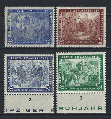 Allied occupation of Germany 1947-48,  Leipzig Trade Fair,  Set of 4 MNH**
