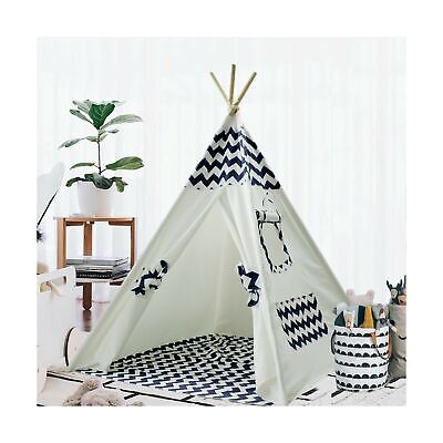 Teepee Tent for Kids Teepee Play Tent Mat for Boys Indoor Outdoor Play House ...