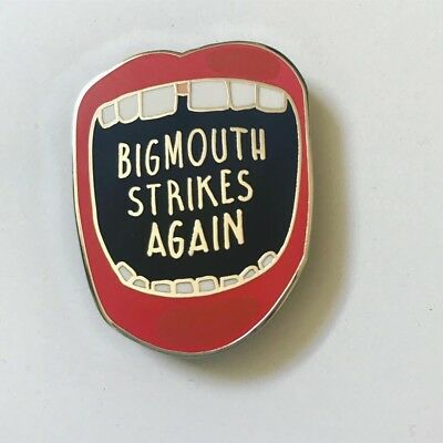 The Smiths Morrissey 'Bigmouth Strikes Again' Pin Badge. Madchester, Indie Fac51
