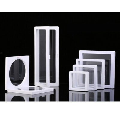 3D Floating Jewelry Display Frame Holder Stand Necklace Bracelet Show Box