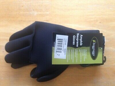 Frogg Toggs 28582-MD Frogg Fingers Fleece Gloves With Fingers Gray Black Size M