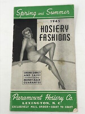 Vintage Paramount Hosiery Co. Hosiery Fashions Catalog 1945 Advertisement