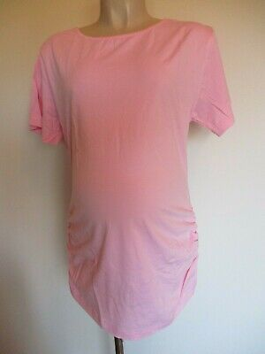 Classic Pink Ruched Maternity T-Shirt Top Size 12 14 16 18 20 New