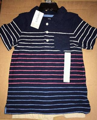 NWT Carters Boy 2 Piece Set Polo T-Shirt and Shorts Size 5T