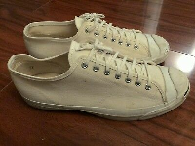 bb0a4daf7e6f Converse Jack Purcell Vintage Shoes Low Top Cream Men s Made In Usa Size 11