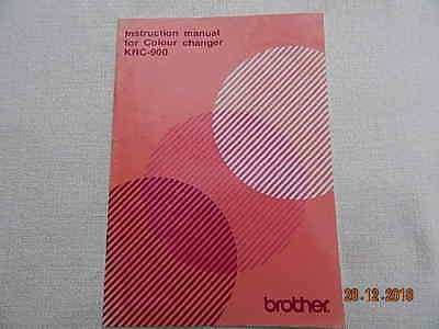 Machine Knitting Instruction Manual Brother Colour Changer Krc 900