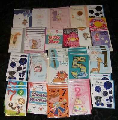 60 mixed BIRTHDAY CARDS - Wholesale Job Lot - GREETING CARDS - AS PICTURED
