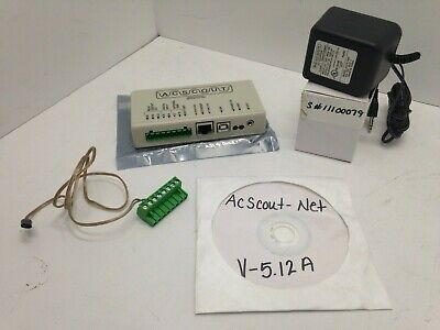 ACSCOUT-NET Power Quality Analyzer S# 11100079 w 9V Ac adapter, Plug and Disc
