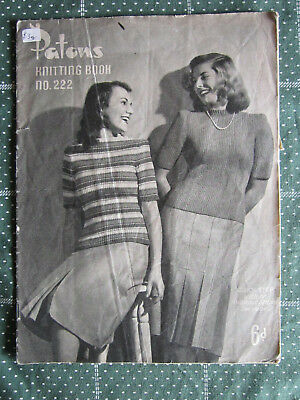 Vintage Knitting Book Patons    No.222   ** Must See ***