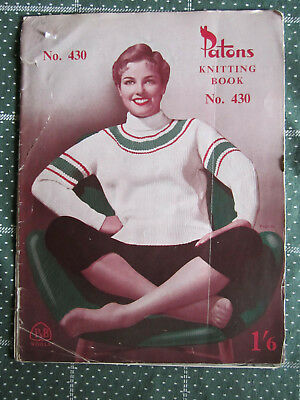 Vintage Knitting Book Patons  No. 430   ** Must See ***