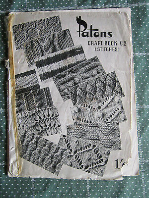 Vintage Knitting Book Patons  Craft  Book C.2 Stitches   ** Must See ***