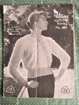 Vintage Patons Knitting Book No. 480   ** Must See  *** Old Book ****