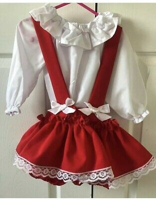 Silvers Made Hand Made Custom Outfit Blouse / Shirt With Skort Age 1-2