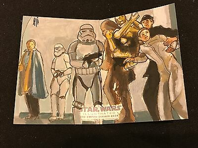 Topps Star Wars Illustrated Leia Lando 1/1 Sketch Card Strikes Back Sp Lightfoot