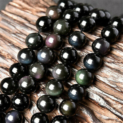 Multicolour Eye Obsidian loose beads 6mm 8mm 10mm Spacer DIY Opaque Healing Lots