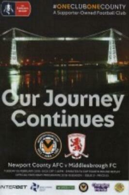 * 2018/19 - NEWPORT COUNTY v MIDDLESBROUGH (FA CUP - 5th February 2019) *