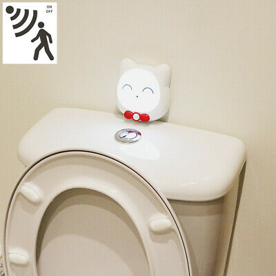 LED Night Light Toilet Bathroom PIR Motion Activated Seat Sensor Rechargeable