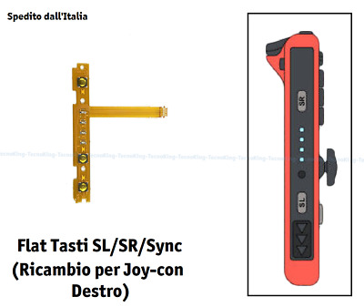Flat Tasti SL SR Sync per Joy-con Destro Nintendo Switch Cavo Flex Joycon Led