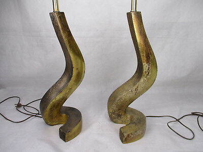 Vtg Mid Century Modern Side Table Lamp Set Abstract Sculpture Majestic Eames Era