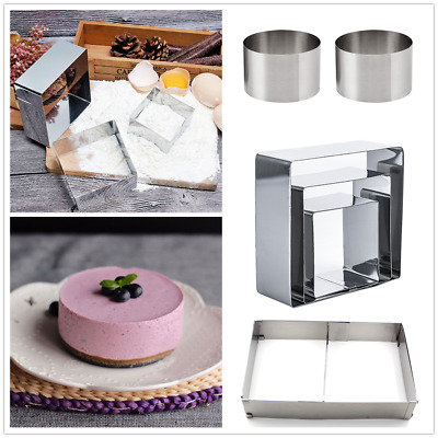3Pcs Stainless Steel Round Food Ring Press Moulds Set Home Kitchen Tools Hot