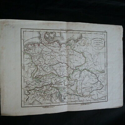 Card Germania antiqua and regiones Danubium inter and Mare Adriatieum
