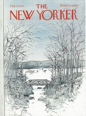 COVER ONLY ~The New Yorker magazine ~ February 2 1976 ~ GETZ ~ Skaters on a Lake