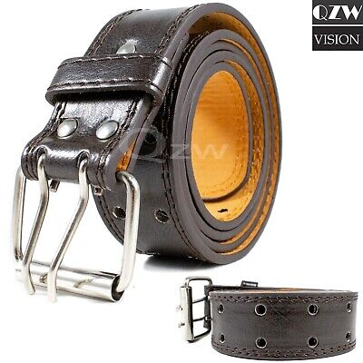 Men's Genuine Leather Dress Jeans Belts With Buckle Causal Black Brown M L XL