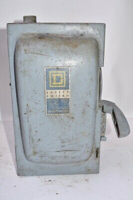 Square D Safety Switch - Disconnect Switch 30 Amps 3PH 600 Volts