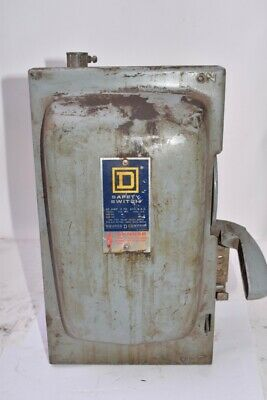 Square D H361 Disconnect Single Throw Fusible Safety Switch 30 AMPS 600 Volts