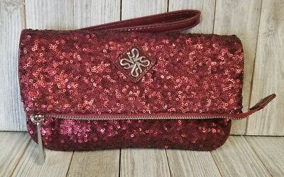 LUXURY PILLOW EVENING Bag With Hot Red Swarovski Crystal Party Purse ... 632ebe59df57
