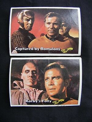 STAR TREK 1976 TOPPS CHEWING GUM TRADING CARDS #'s 4 & 6 ~ Genuine, Original.