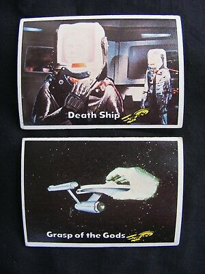 STAR TREK 1976 TOPPS CHEWING GUM TRADING CARDS #'s 16 & 17 ~ Genuine, Original