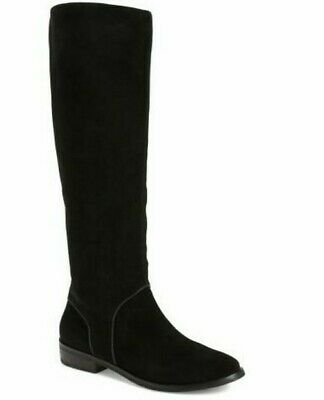 5e5e4b17942 NWOT UGG AUSTRALIA Daley Gracen Black Suede Zip Knee High Boot 8.5M