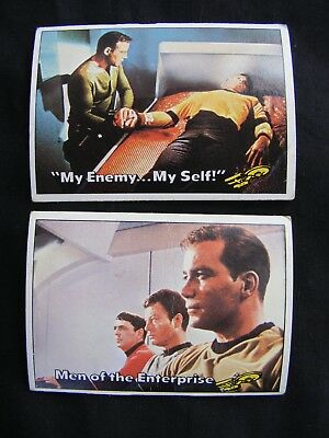 STAR TREK 1976 TOPPS CHEWING GUM TRADING CARDS #'s 22 & 23 ~ Genuine, Original