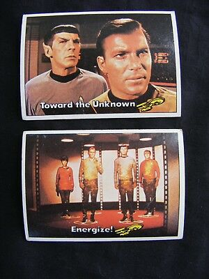 STAR TREK 1976 TOPPS CHEWING GUM TRADING CARDS #'s 25 & 28 ~ Genuine, Original