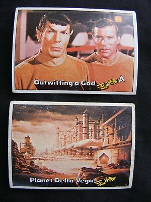 STAR TREK 1976 TOPPS CHEWING GUM TRADING CARDS #'s 29 & 30 ~ Genuine, Original.