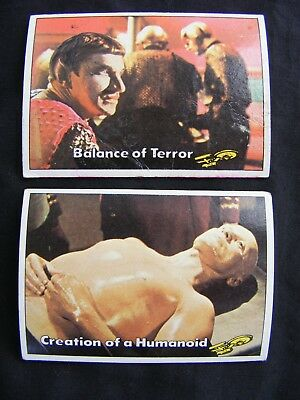 STAR TREK 1976 TOPPS CHEWING GUM TRADING CARDS #'s 37 & 40 ~ Genuine, Original