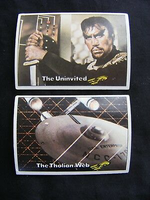 STAR TREK 1976 TOPPS CHEWING GUM TRADING CARDS #'s 51 & 52 ~ Genuine, Original