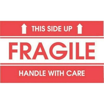 """2"""" x 3"""" Fragile This Side Up Labels (500 per Roll)"""