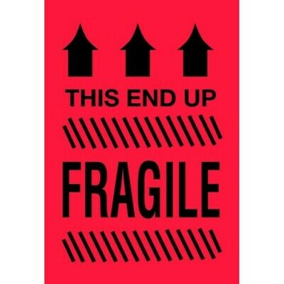 """2"""" x 3"""" This Side Up Fragile Labels (500 per Roll)"""